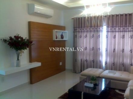 Cozy 2 bedroom serviced apartment for rent on D1 street, Binh Thanh district, HCM City