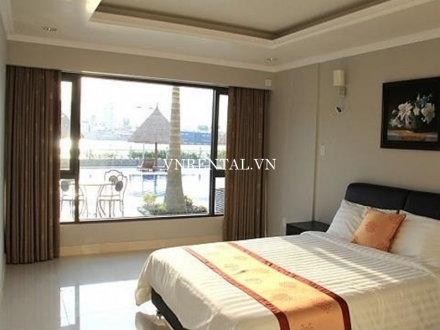 High quality and beautiful river view 2 bedroom serviced apartment for rent on Nguyen Van Huong St, district 2, HCMC