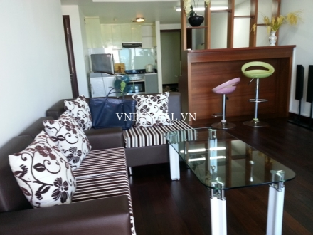 Nice high floor 2 bedroom apartment for rent in Sailing Tower, District 1, Ho Chi Minh City