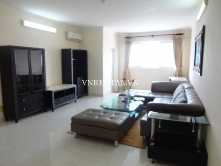 Spacious 3 bedroom apartment for rent in Central Garden building, District 1, HCMC