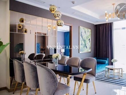 Nice high floor apartment for rent in Vinhomes Central Park, Binh Thanh District, HCMC